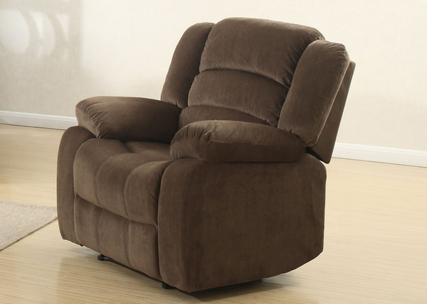Bill 3-Pc Brown Fabric Manual Recliner Sofa Set by AC Pacific