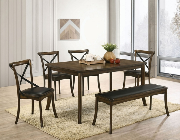 Buhl I Espresso Leatherette/Wood Bench by Furniture of America