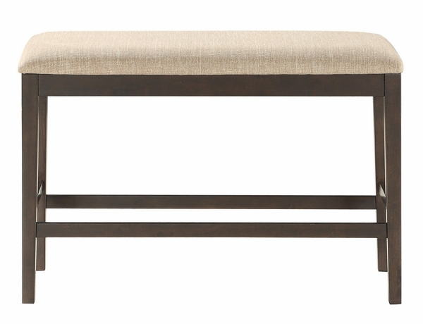 Balin Light Brown Fabric/Wood Counter Height Bench by Homelegance