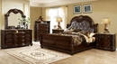 Amber Brown Cherry King Bed (Oversized) by McFerran Home Furnishings