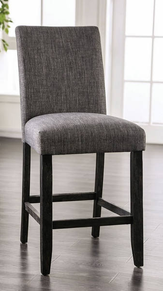 Brule 2 Gray Fabric/Wood Counter Height Chairs by Furniture of America