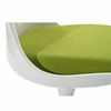 Lippa 4 Green Plastic/Fabric Side Chairs by Modway