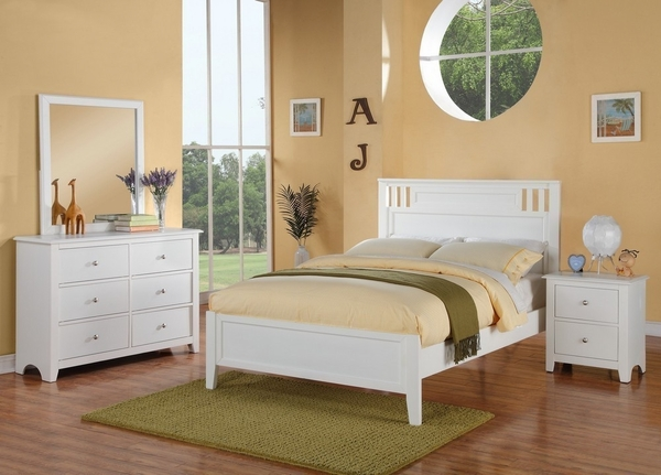 Rosario White Wood 2-Drawer Nightstand by Poundex