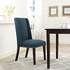 Baron Azure Fabric Upholstered Side Chair by Modway