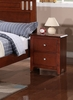 Rosario Cherry Wood 2-Drawer Nightstand by Poundex