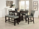 Dottie Rich Espresso Faux Marble/Wood Counter Height Table by Poundex