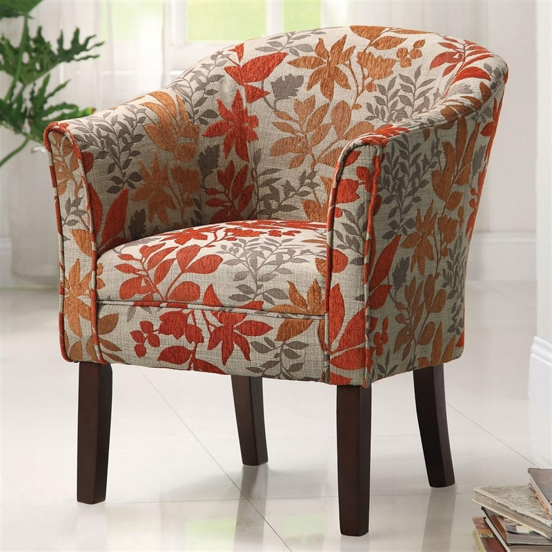 Hermione Multi Color Woven Fabric Upholstered Chair By Coaster