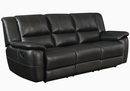 Lee 3-Pc Black Manual Recliner Sofa Set (Oversized) by Coaster