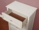 Brogan Antique White Wood 4-Drawer Chest by Furniture of America