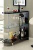 Numbi Black Glass/Wood Mini Server by Furniture of America