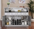 Alena Silver Wood Bar Table by Furniture of America