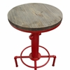 Brooklyn Weathered Grey/Red Bistro Table by Diamond Sofa