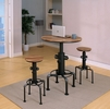 Foskey Antique Black/Natural Tone Bar Table by Furniture of America