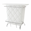 Fuero White Leatherette Bar Table by Furniture of America