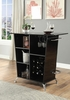 Fuero Black Leatherette/Metal Bar Table by Furniture of America