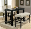 Sania Antique Black Wood Rectangular Bar Table by Furniture of America