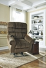 Signature Design Ernestine Truffle Power Lift Recliner by Ashley