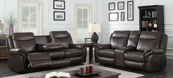 Chenai Leather Gel Manual Recliner Loveseat by Furniture of America