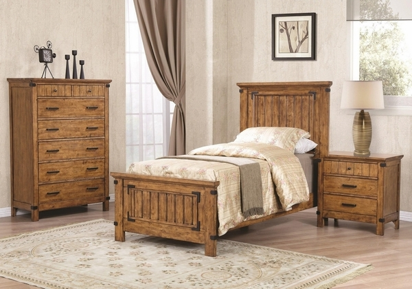 Brenner Rustic Honey Asian Hardwood Chest with 7 Drawers by Coaster