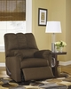 Signature Design Darcy Cafe Fabric Manual Rocker Recliner by Ashley