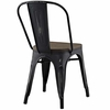 Promenade 4 Black Laminated Bamboo/Steel Side Chairs by Modway