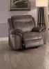 Aram Brown Fabric Manual Glider Recliner by Homelegance