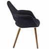 Aegis 2 Black Fabric/Wood Dining Arm Chairs by Modway