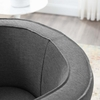 Anders Gray Fabric Barrel Back Accent Chair by Modway