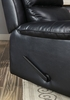 Bedwas Black Leatherette Manual Recliner by Furniture of America