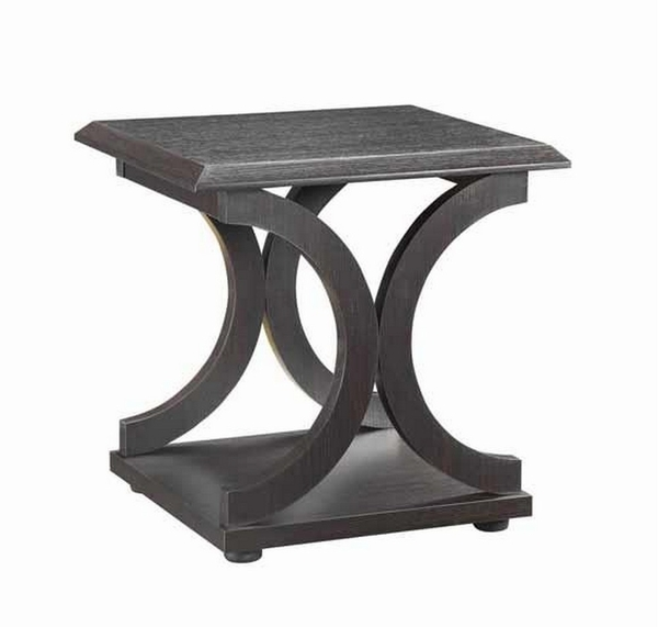 Alfonsina 3-Pc Cappuccino Wood C-Shape Table Set by Coaster