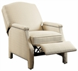 Alistair Beige Fabric Manual Recliner by Homelegance