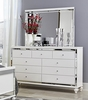 Alonza Brilliant White Wood Dresser with 9 Drawers by Homelegance