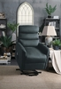 Miralina Gray Fabric Power Recliner with Massage & Heat by Homelegance