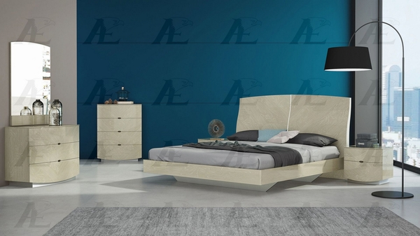 Aster Light Walnut Wood King Bed by American Eagle Furniture