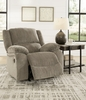 Signature Design Draycoll Pewter Power Rocker Recliner by Ashley