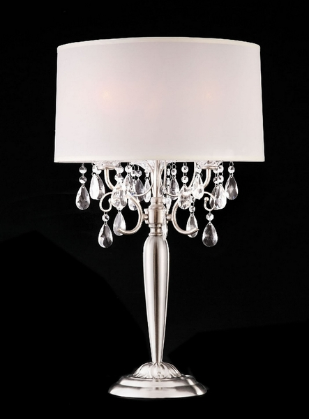Sophy Glam Table Lamp w/ Hanging Crystal by Furniture of America