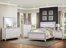 Alonza Brilliant White Wood Nightstand with 3 Drawers by Homelegance