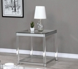 Adriana Chrome & Acrylic Square End Table with Glass Top by Coaster