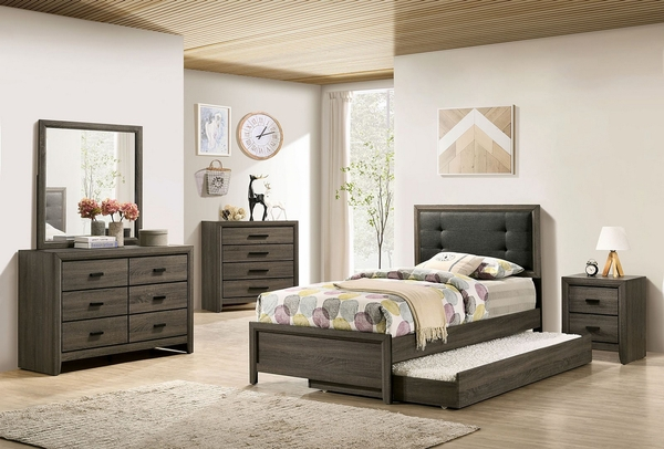 Roanne Gray Wood 4-Drawer Chest by Furniture of America