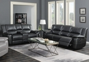 Lee 2-Pc Black Manual Recliner Sofa Set (Oversized) by Coaster