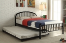 Cailyn Black Metal Tube Full Bed with Trundle by Acme