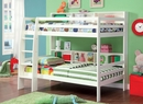 Camino White Wood Twin over Twin Bunk Bed by Furniture of America