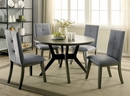 Abelone Gray Wood Round Dining Table by Furniture of America