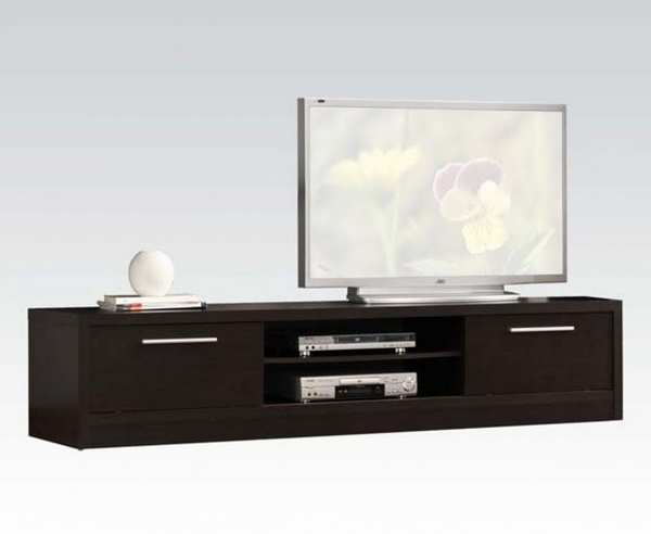 Malloy Contemporary Espresso Wood TV Stand by Acme