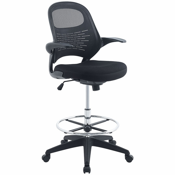 Advance Black Drafting Chair by Modway