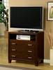 Gerico II Brown Cherry Media Chest by Furniture of America