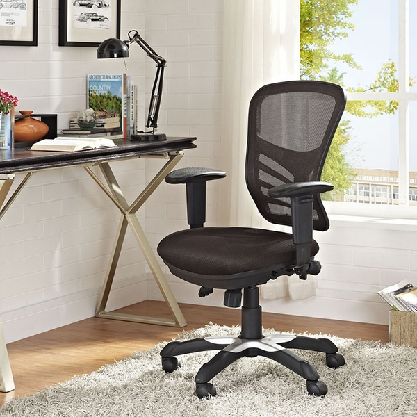 Articulate Brown Mesh Office Chair by Modway