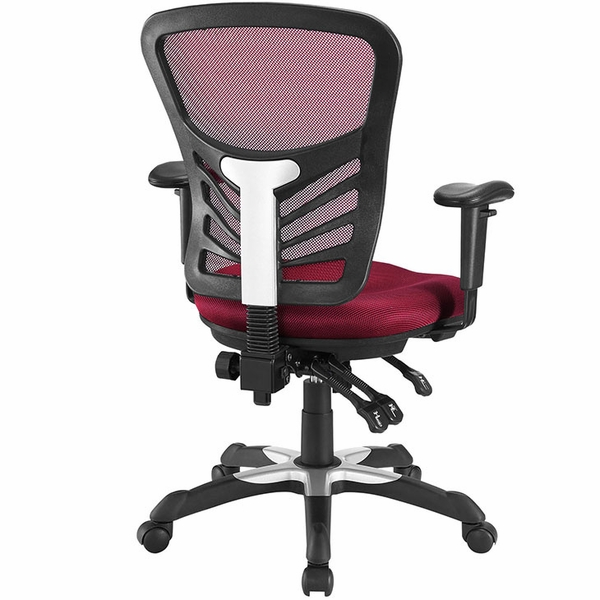 Articulate Red Mesh Office Chair by Modway