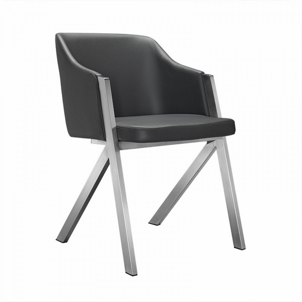 Modrest Darcy Modern 2 Gray Leatherette Arm Chairs by VIG Furniture