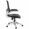 Attainment Black Office Chair with Vinyl Seat and Arms by Modway